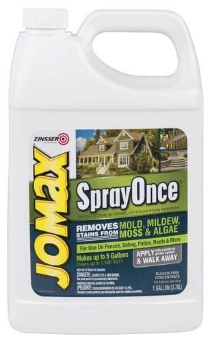 zinsser jomax sprayonce exterior stain remover  gal