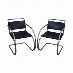 Mies Van Der Rohe Chair : knoll ludwig mies van der rohe chairs pair chairish ~ Watch28wear.com Haus und Dekorationen