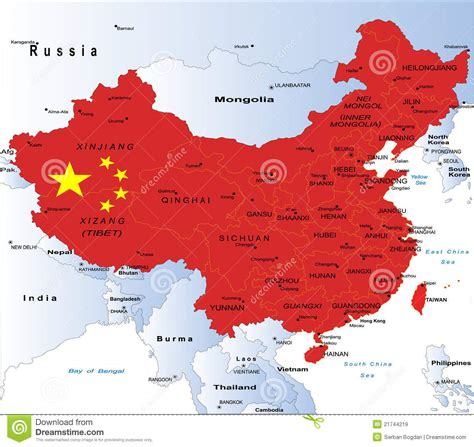 political map  china royalty  stock images image