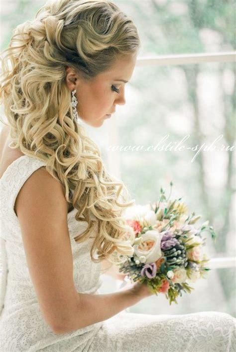 half wedding down hairstyles long stunning tutorial hairstyle sophisticated flowers pearl