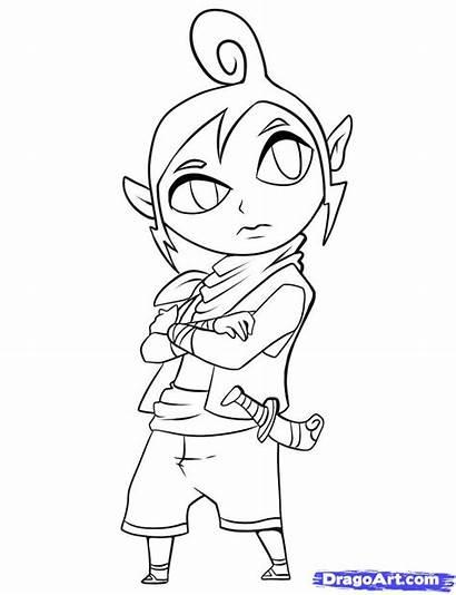 Coloring Tetra Zelda Pages Legend Link Draw