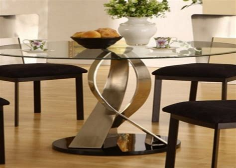 elegant glass dining rooms sets  kitchen table