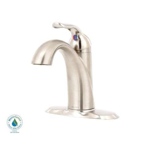 delta lahara single hole 1 handle bathroom faucet in