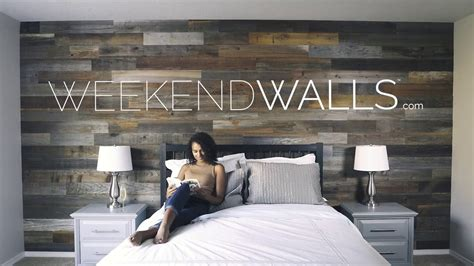 weekend walls peel  stick wood paneling youtube
