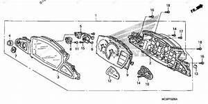 Honda Motorcycle 2007 Oem Parts Diagram For Speedometer