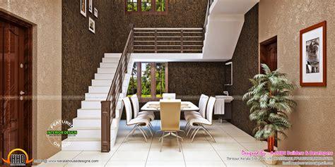 blue toned interiors kerala home design  floor plans
