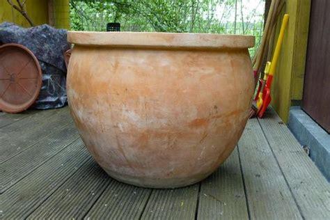 terracotta pflanzkübel terracotta pflanzk 252 bel gro 223 in roth sonstiges f 252 r den garten balkon terrasse kaufen und
