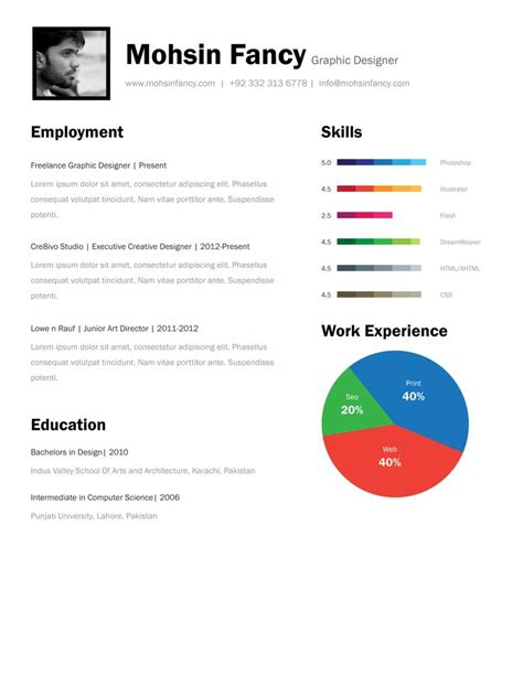 1 Page Resume Template by One Page Resume Template Free One Page Resume