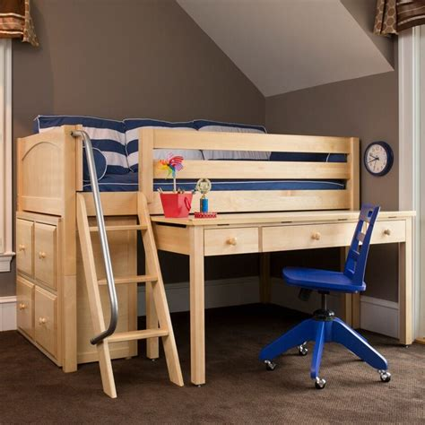 loft bed with desk for low ceiling take advantage of full size low loft bed home