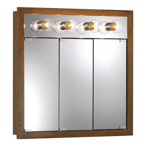 Nutone Medicine Cabinets With Lights shop broan granville 30 in x 30 in rectangle surface