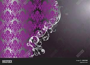 Elegant Vintage Purple Wallpaper Vector & Photo | Bigstock