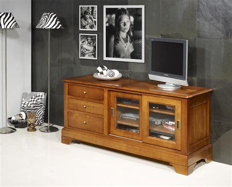 meuble tv 16 9eme e en merisier massif de style louis