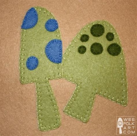 Felt Applique Patterns by 203 Best Images About Felt Mushrooms On Felt