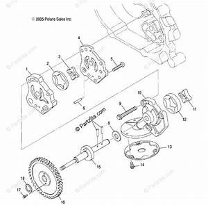 Polaris Atv 2007 Oem Parts Diagram For Engine  Oil Pump