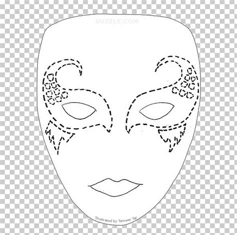 lion mask traditional african masks template pattern png clipart art black  white