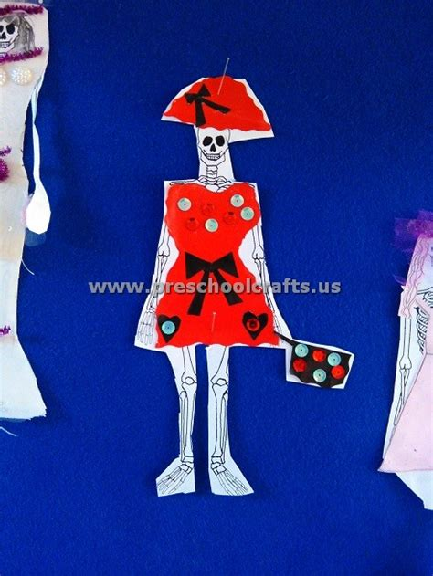 skeleton crafts ideas  kindergarten  preschool