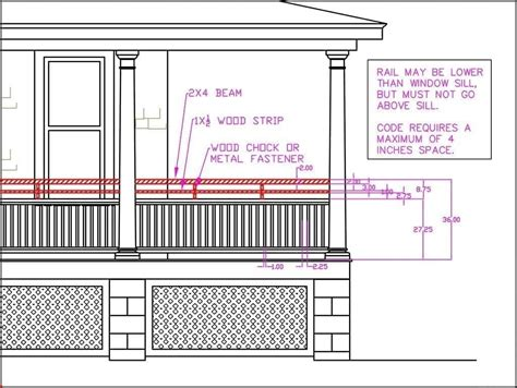 Porch Railing Dimensions by Porch Railing Height Building Code Vs Curb Appeal
