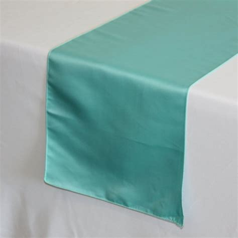turquoise table l turquoise lamour satin table runner wedding table runners
