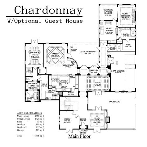 house plans with attached guest house floor plans with attached guest house