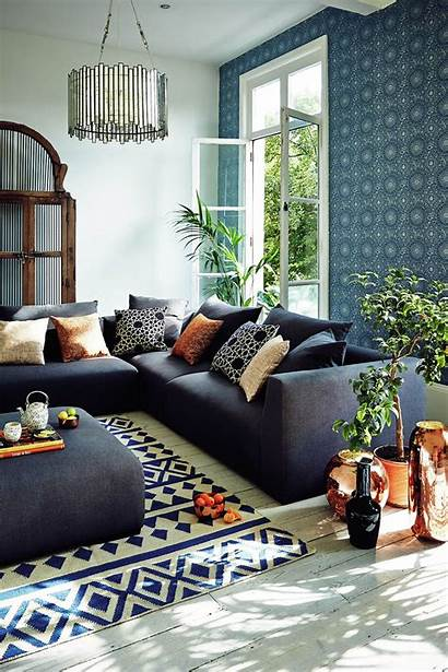 Living Navy Copper John Lewis Feature Wall