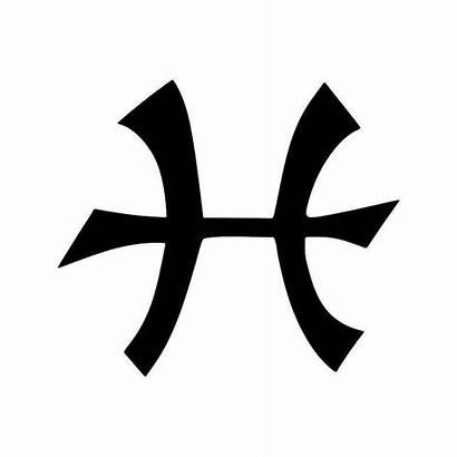 Pisces Symbol Horoscope Vinyl Sticker Stencil Current