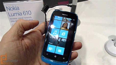 nokia lumia 610 windows phone live demo youtube