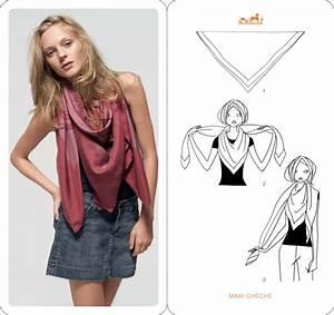 Comment Mettre Une Cravate : comment porter nouer un foulard carr en 2018 nouer et ~ Nature-et-papiers.com Idées de Décoration
