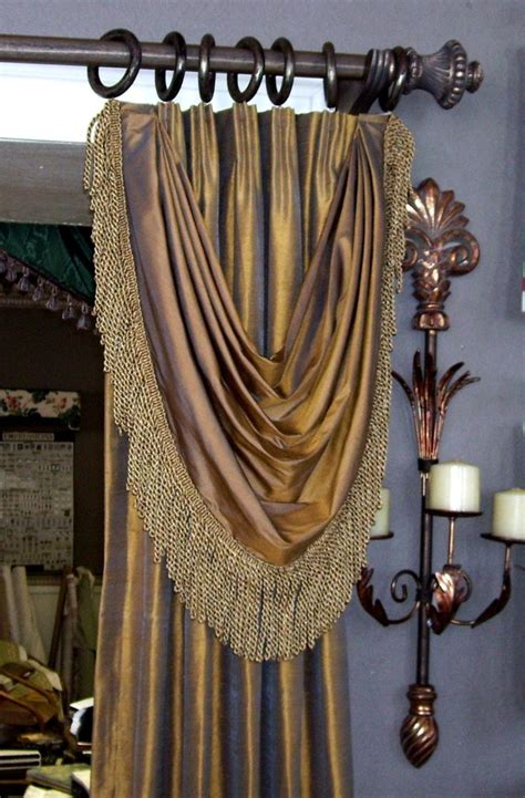 Drapery Swags by Pleated Drapery With Bustle Swag Curtains And
