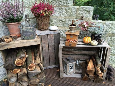 Herbstdeko 2016  Vintagelook & Holzscheite