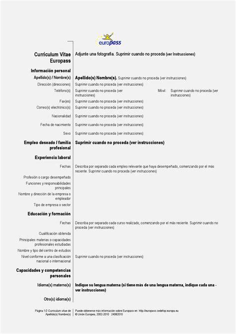 curriculum vitae formato  llenar laboral resume