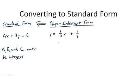 Standard Form Of Linear Equations  Ck12 Foundation