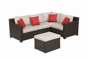 hampton bay elmsley 5 piece outdoor sectional set the With home depot sectional sofa outdoor