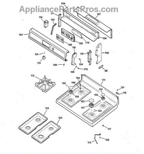 parts  ge jgbpsefss control panel cooktop parts appliancepartsproscom