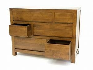 Commode Bois Massif : commode oscar 6 tiroirs avec poign es int gr es meubles bois massif ~ Teatrodelosmanantiales.com Idées de Décoration