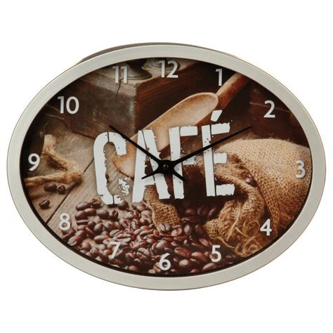 pendule pour cuisine pendule de cuisine quot grain de café quot gris
