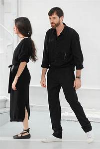 Sarah Linh Tran and Christophe Lemaire at Lemaire menswear