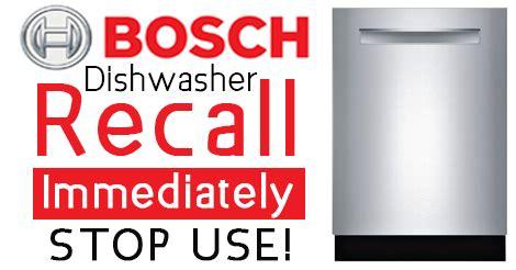 dishwasher recall  bosch gaggenau kenmore elite