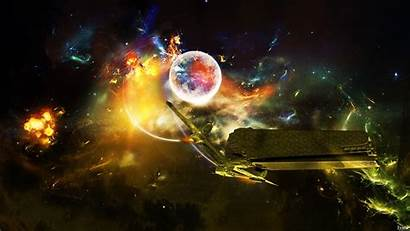 Space Outer Science Fiction Manipulation Wallpapers 3d