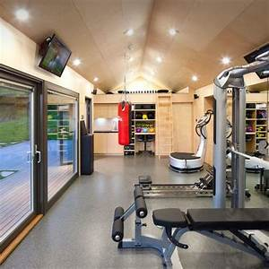 contemporary home gym design ideas pictures remodel decor With kitchen cabinets lowes with fitness room wall art