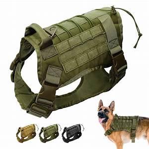 Tactical Military Big Dog Harness Large Dog Training Vest