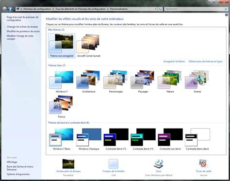 theme de bureau windows 7 personnaliser windows seven de a à z avec les thèmes
