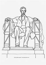 Lincoln Abraham Coloring Dc Pages Monuments National Washington Drawing Monument States Sheets Clipart Printable United Presidents President Sunday Getdrawings Prep sketch template