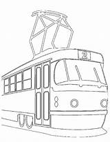 Tramway Metro Coloriages Coloriage Coloring Pages Template sketch template