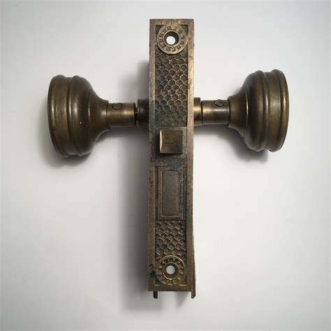Eastlake interior mortise lock set with skeleton key