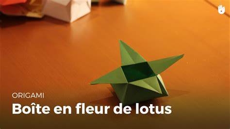 boite en papier feuille de lotus origami