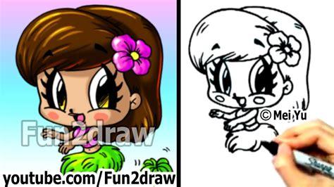 How To Draw A Cartoon Girl Fun2draw