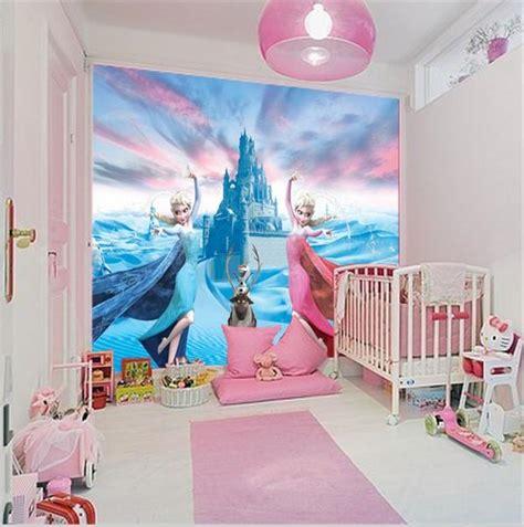 custom  elsa frozen cartoon wallpaper  walls kids