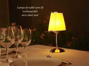 Lampe De Table Rechargeable : lampe de table sans fil rechargeable midlightsun ~ Teatrodelosmanantiales.com Idées de Décoration
