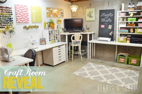 Craft Room Reveal!  Organize And Inspire