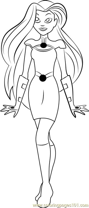 starfire coloring page  dc super hero girls coloring pages coloringpagescom